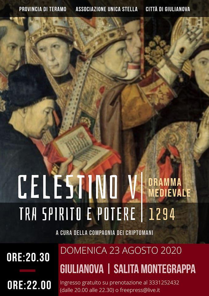 """Giulianova. """"Celestino V tra spirito e potere""""  Il dramma medievale sulla vita di Pietro da Morrone in scena sulla Salita Monte Grappa"""