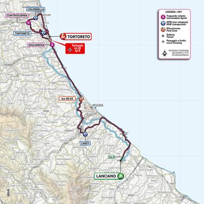 Giulianova. Giro d'Italia 2020.  Il Sindaco Costantini dispone la chiusura delle scuole per martedì 13 ottobre