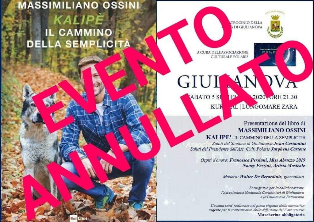 Giulianova. Annullato l'evento con Massimiliano Ossini