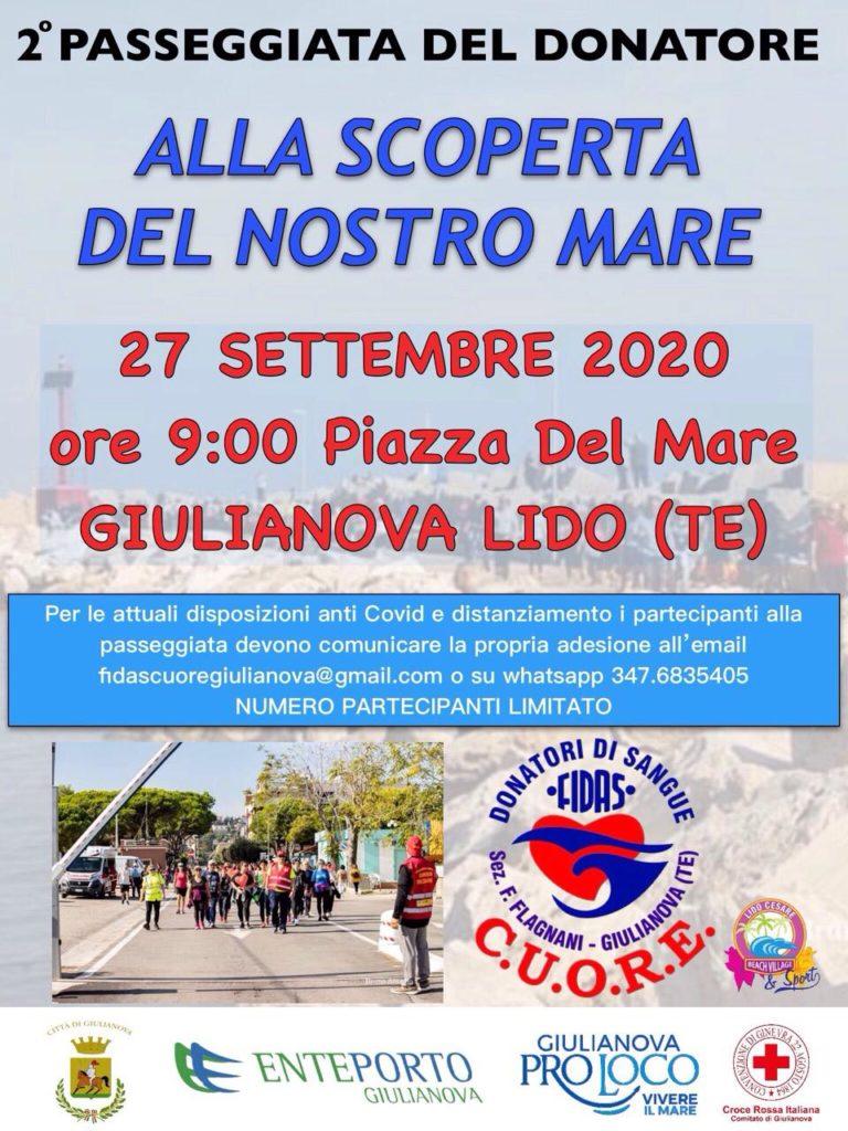 Giulianova. 2° passeggiata del donatore Fidas-Cuore