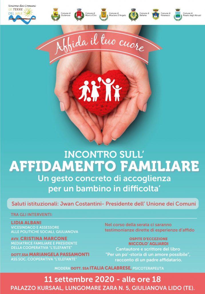 Al Kursaal di Giulianova l'incontro sull'affidamento familiare