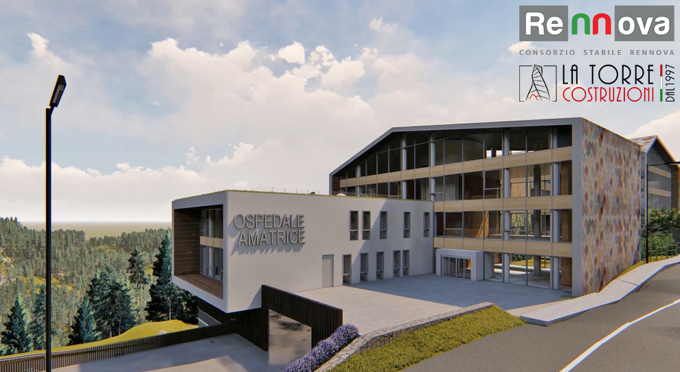 Sisma 2016: Le imprese teramane del Consorzio Stabile Rennova ricostruiranno il Nuovo Ospedale di Amatrice
