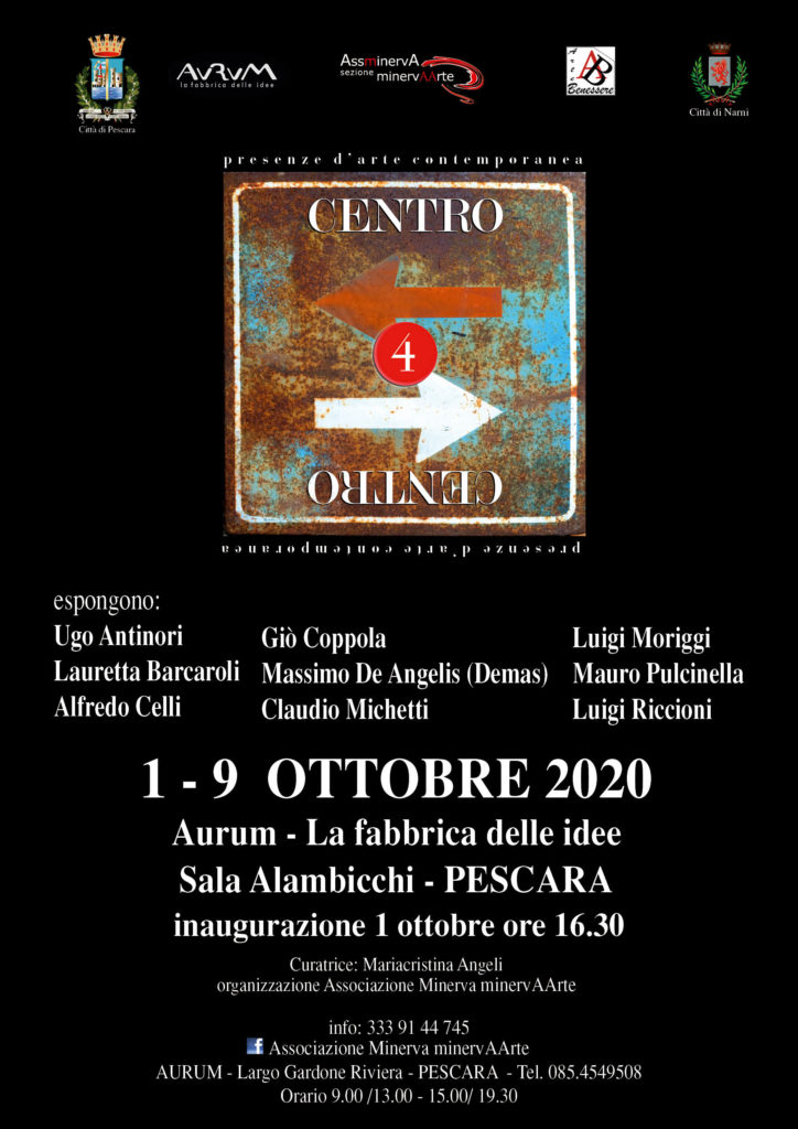"""Pescara. Arte Contemporanea: """"Centro"""" dal 1 al 9 ottobre – Aurum-la fabbrica delle idee."""