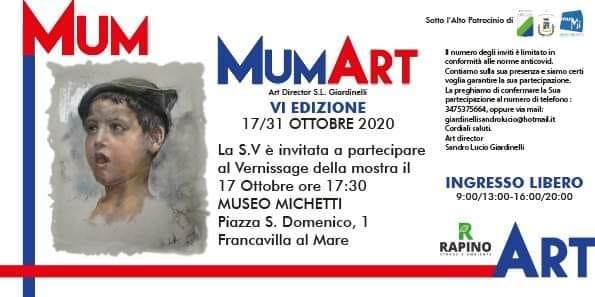 Francavilla al Mare. VI edizione di MumArt, sabato 17 ottobre