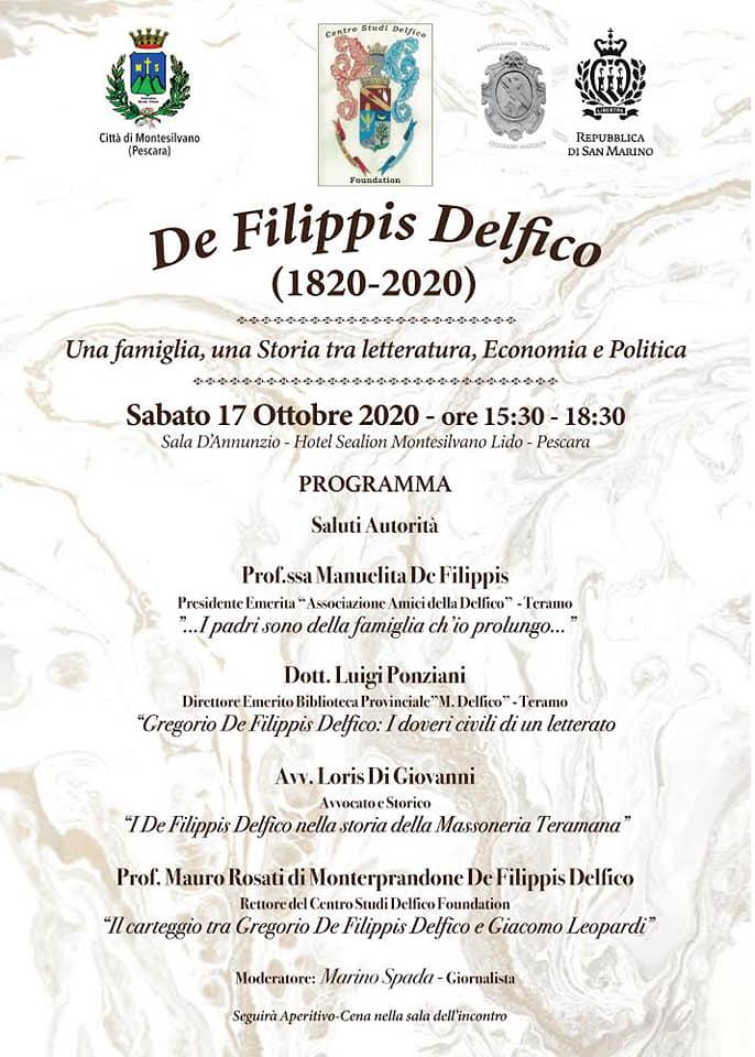Montesilvano. Convegno celebrativo del Bicentenario della famiglia DE FILIPPIS DELFICO.