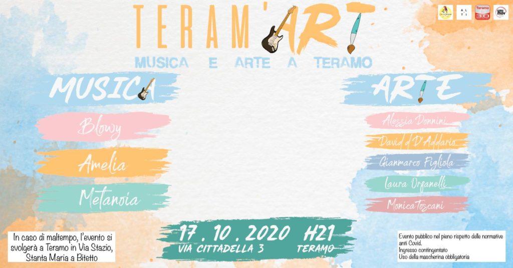 Teram'Art si svolgerà sabato 17 ottobre a Teramo