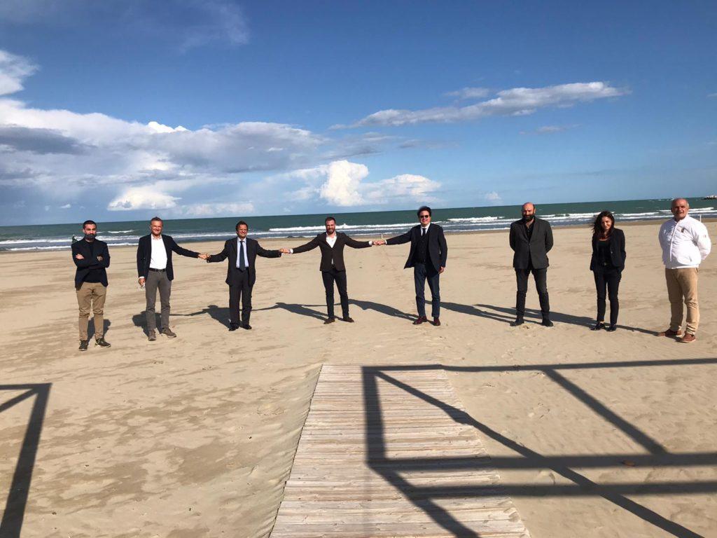 Giulianova. Il Sindaco Costantini riceve la visita dell'Assessore Regionale al Turismo Febbo e del Sottosegretario D'Annuntiis