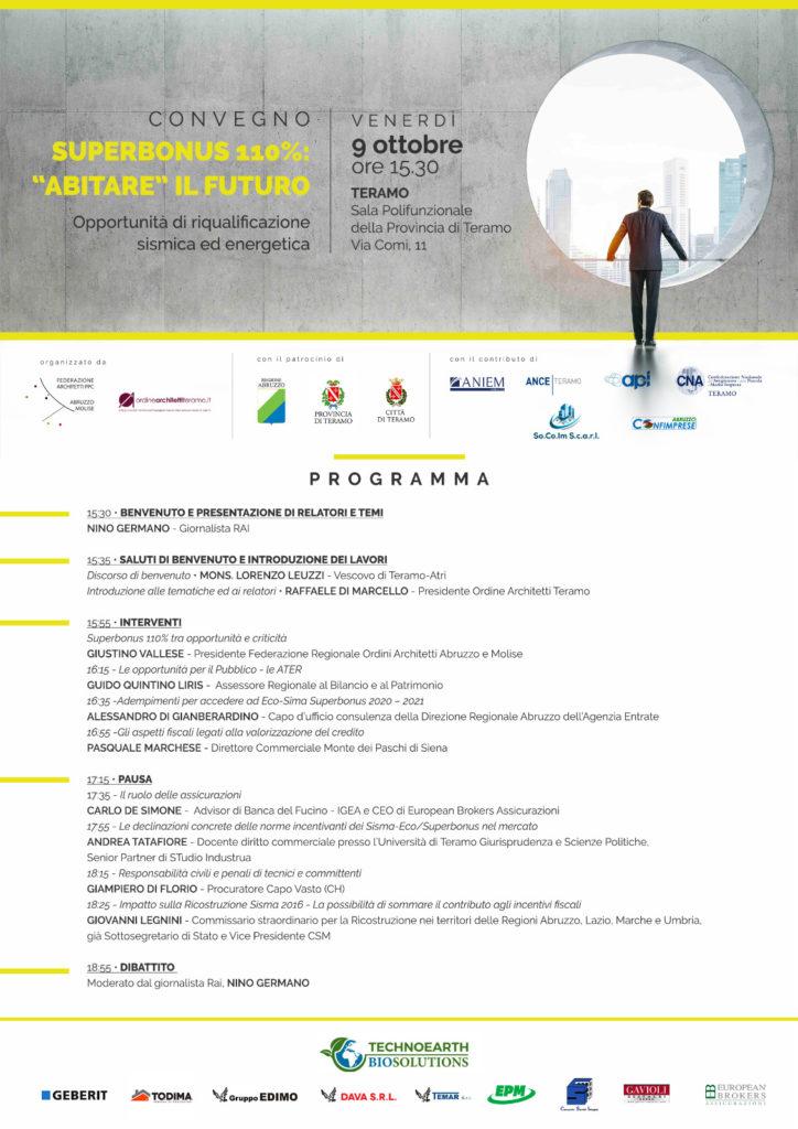 """convegno """"SUPERBONUS 110%: 'ABITARE' IL FUTURO – OPPORTUNITÀ' DI RIQUALIFICAZIONE SISMICA ED ENERGETICA""""."""