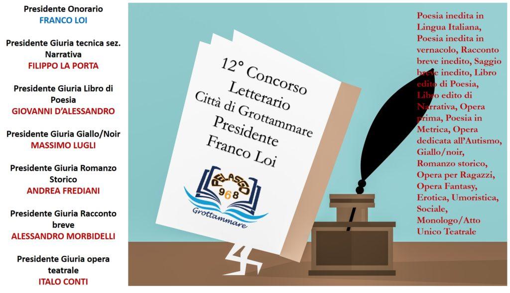 """12° CONCORSO LETTERARIO """"CITTÀ DI GROTTAMMARE"""", il regolamento"""