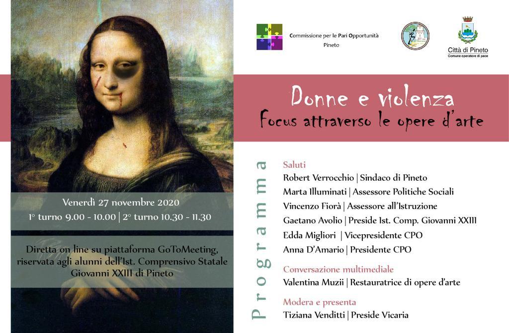 """CPO di Pineto: """"Donne e violenza, un focus attraverso le opere d'arte"""""""