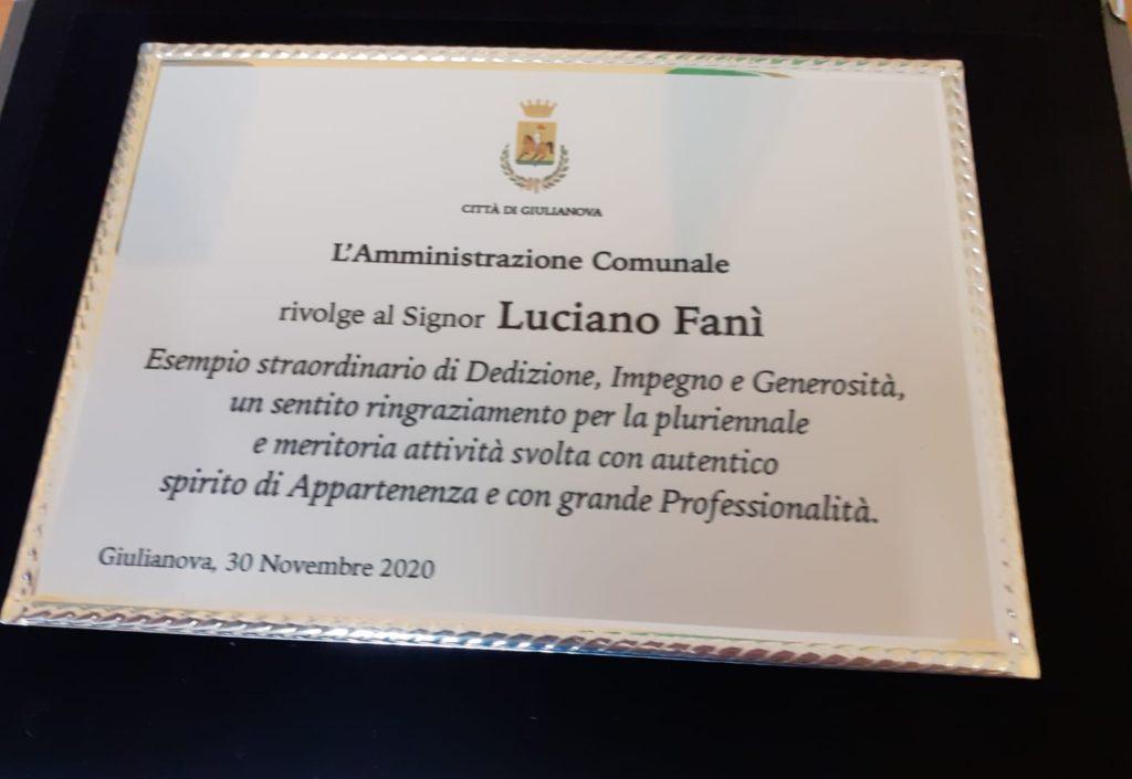 Giulianova. L'Amministrazione Comunale saluta il Segretario dell'Ufficio di Staff Luciano Fanì