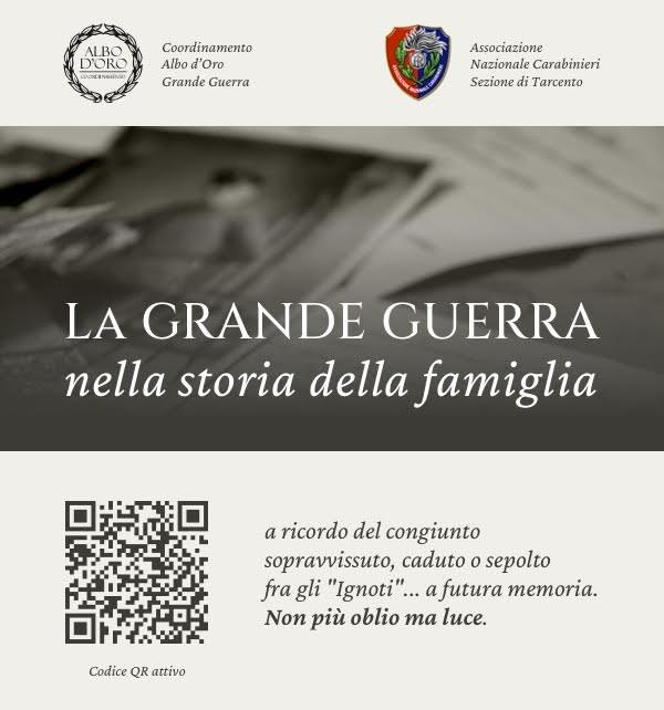 Grande Guerra. Domenica 31 gennaio 2021 sul quotidiano Corriere della Sera sarà pubblicata l'informativa sull'evento dell'attivazione del codice QR
