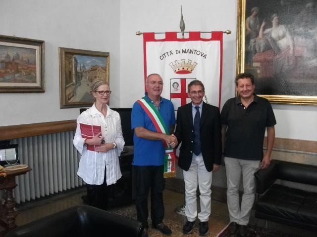 Festival di Mantova. Da sx: Patrizia Di Donato, Nicola Sodano, Sandro Galantini e Marco Cavarocchi