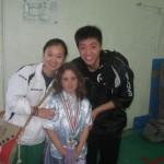 i campioni cinesi Chen kai Li e Wu wei song con giada anzidei