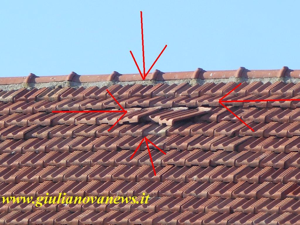 Giulianova le tegole pericolanti del tetto della scuola for Tegole del tetto della casetta