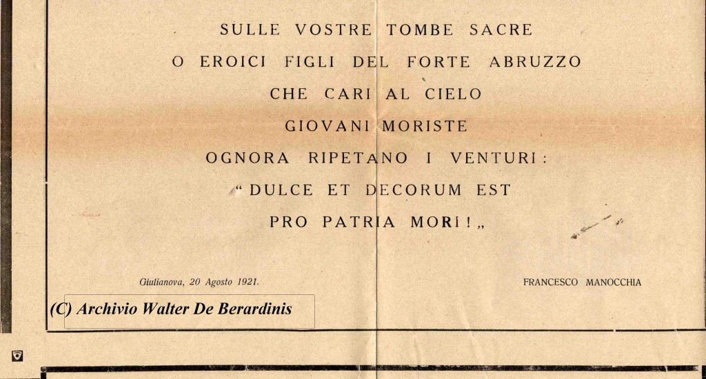Versi di Francesco Manocchia