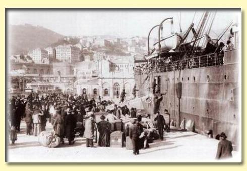 imbarco dal porto di Genova - fine 800