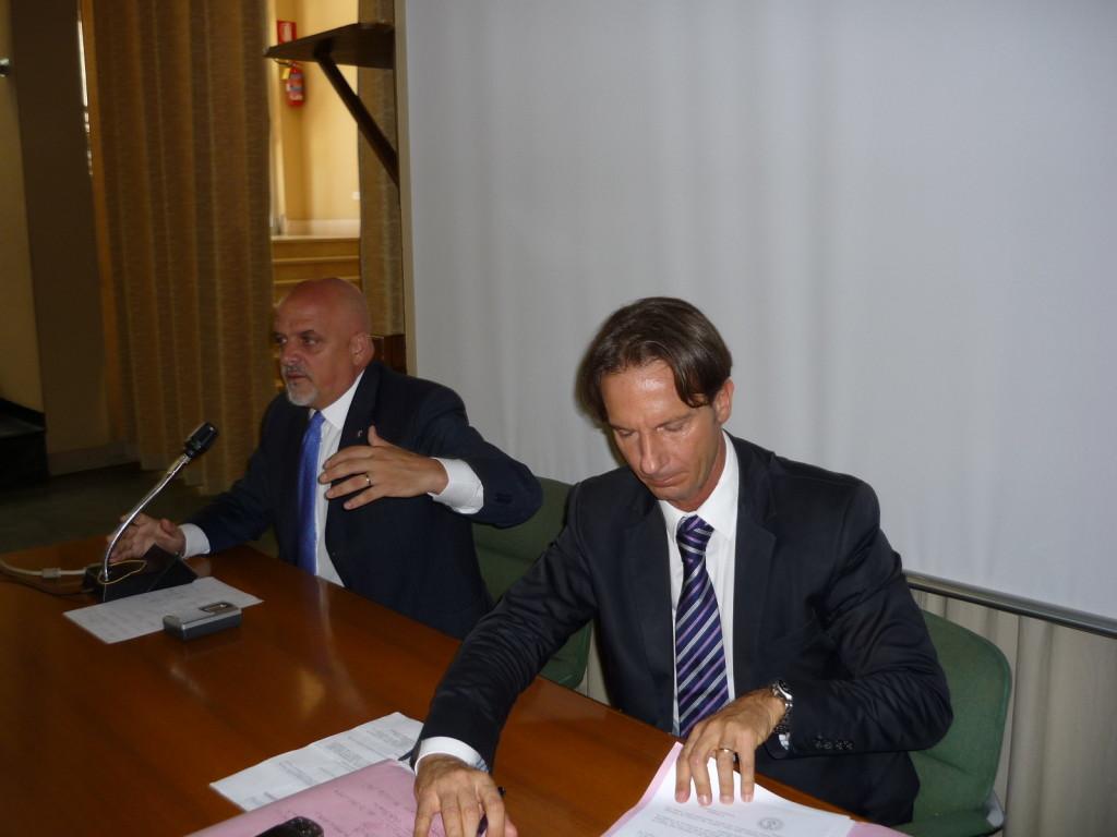 Maurizio Brucchi, Sindaco di Teramo e Francesco Mastromauro, Sindaco di Giulianova