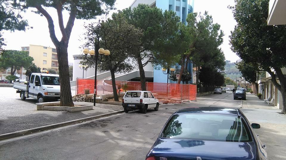 Lavori in piazza Giovanni XXIII