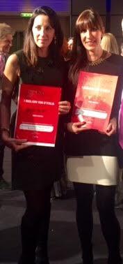 Caterina Cornacchia ed Elena Nicodemi alla premiazione della guida Bibenda