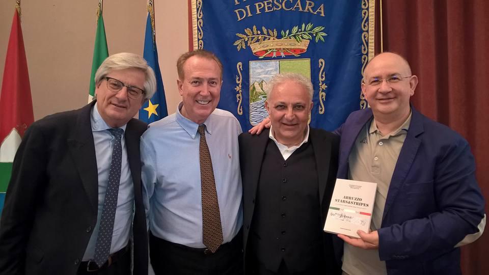 """Pescara. """"ABRUZZO Strars&Stripes – le radici abruzzesi negli Stati Uniti"""" di Generoso D'Agnese, Geremia Mancini e Dom Serafini."""