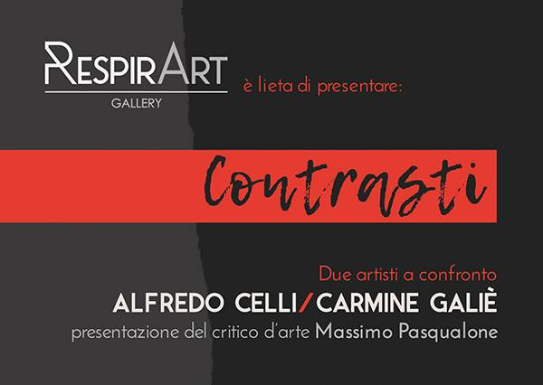 """Giulianova. Arte: Mostra """"Contrasti"""" con Alfredo Celli e Carmine Galiè. Ingresso libero"""