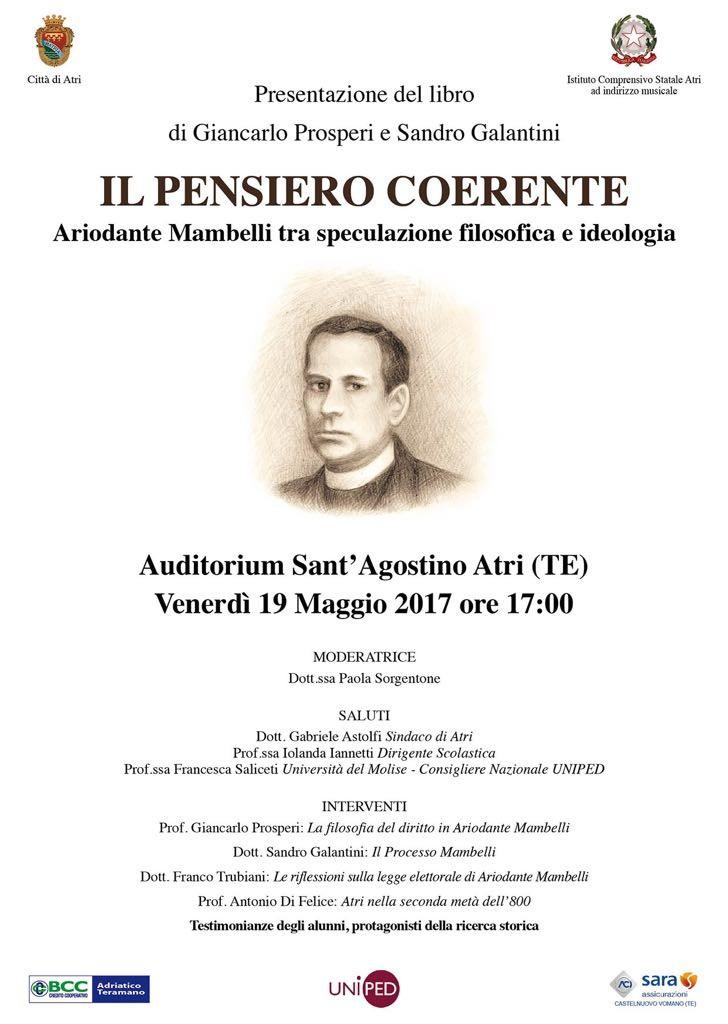 Locandina presentazione libro su Mambelli di Giancarlo Prosperi e Sandro Galantini