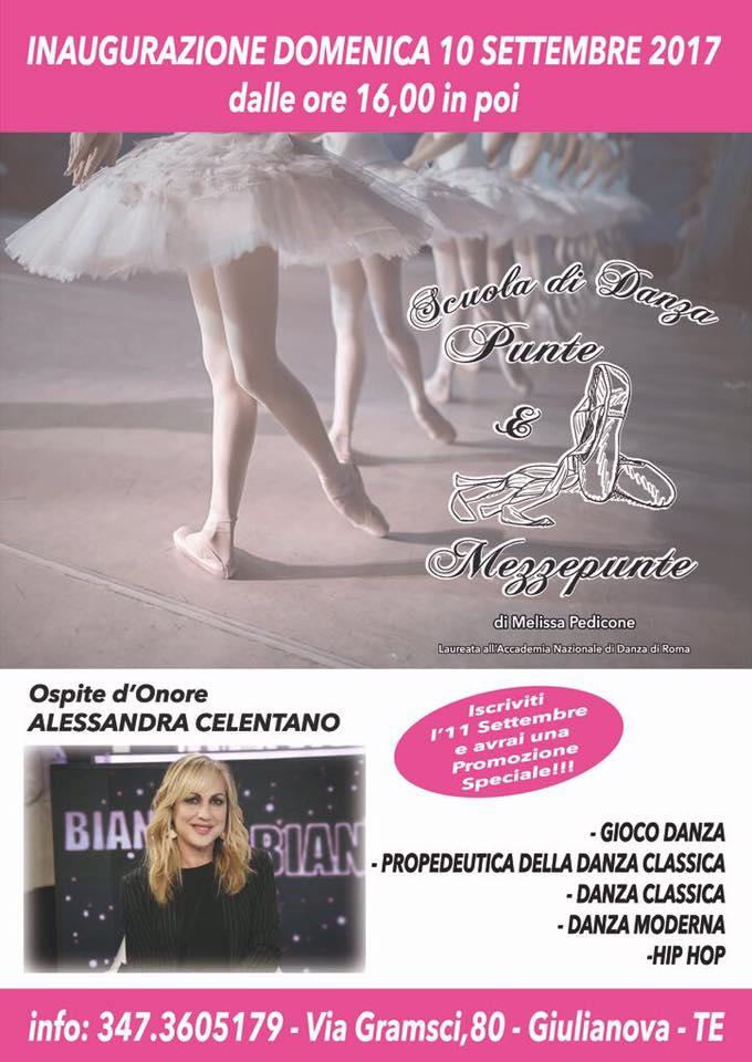 """Giulianova. La coreografa ed insegnante di danza Alessandra Celentano arriva a Giulianova per l'inaugurazione della scuola """"Punte & Mezzepunte"""""""