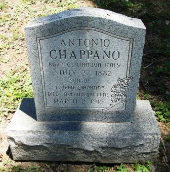 Giulianova. La tragica morte di Antonio Ciapanna nella miniera di Layland nel West Virginia (1915). Il simbolo dei lavoratori giuliesi all'estero.