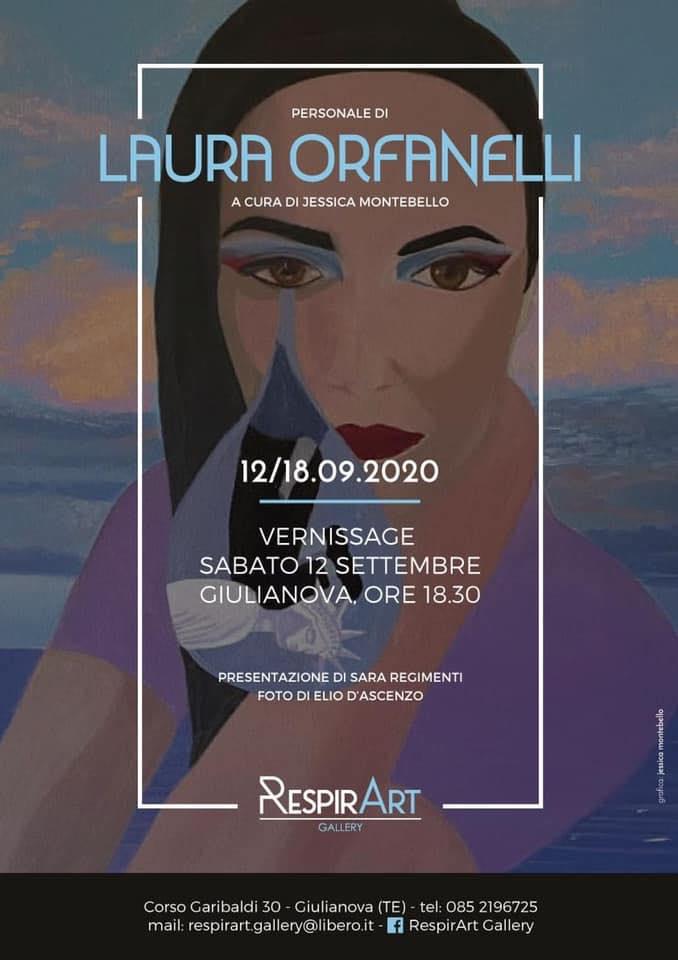 """Giulianova. Personale di Laura Orfanelli alla galleria """"RespirArt"""", dal 12 al 18 settembre 2020."""