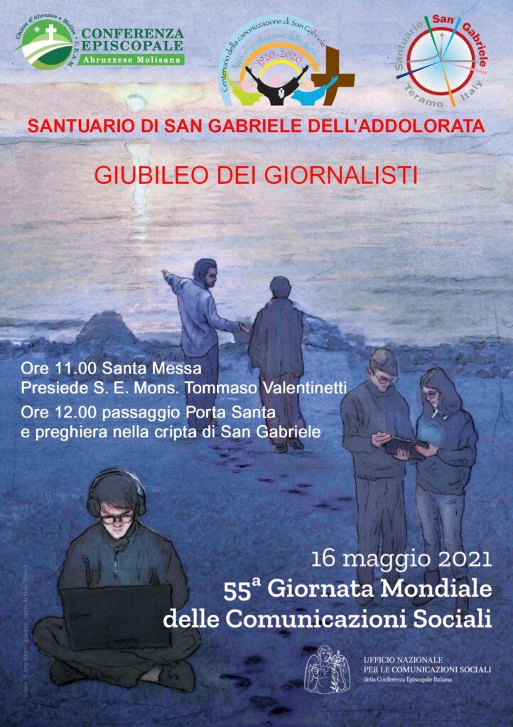 Isola del Gran Sasso. Santuario San Gabriele: Giubileo dei giornalisti