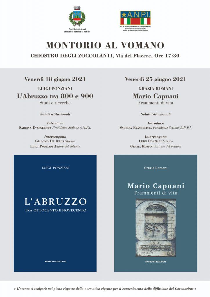 Montorio al Vomano. ANPI: presentazione del libro di Luigi Ponziani e Grazia Romani