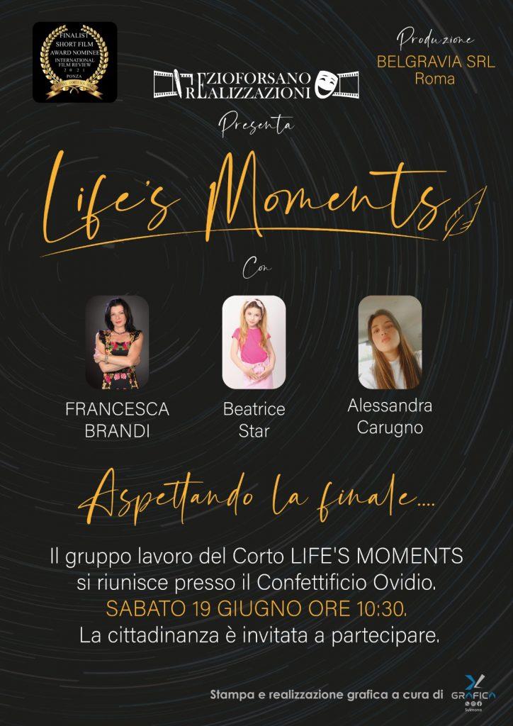 """A SULMONA PRESENTAZIONE DEL CORTOMETRAGGIO """"LIFE'S MOMENTS"""""""