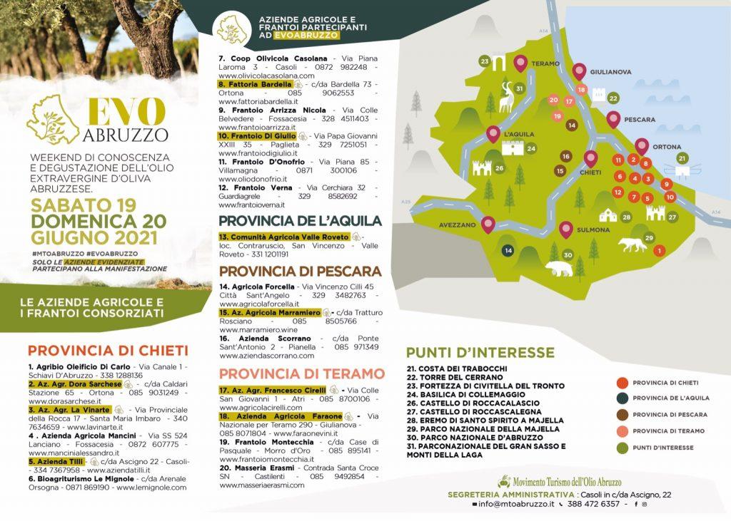 """Sabato 19 e Domenica 20 Giugno arriva """"Evo Abruzzo"""" nelle aziende del Movimento Turismo Olio"""