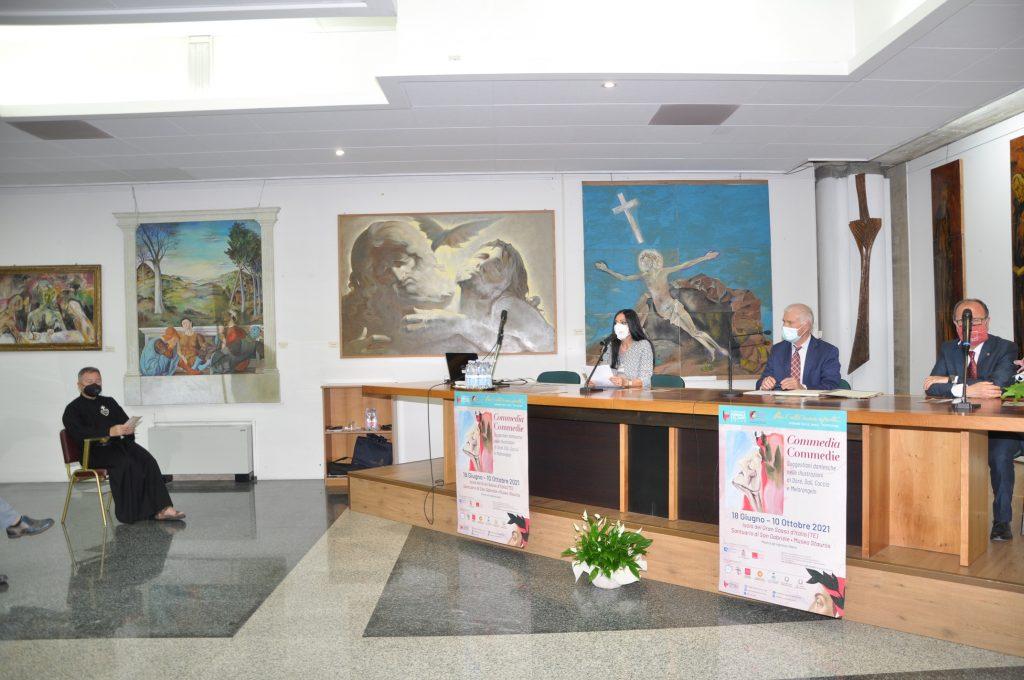 Santuario San Gabriele: inaugurata la mostra su Dante Alighieri