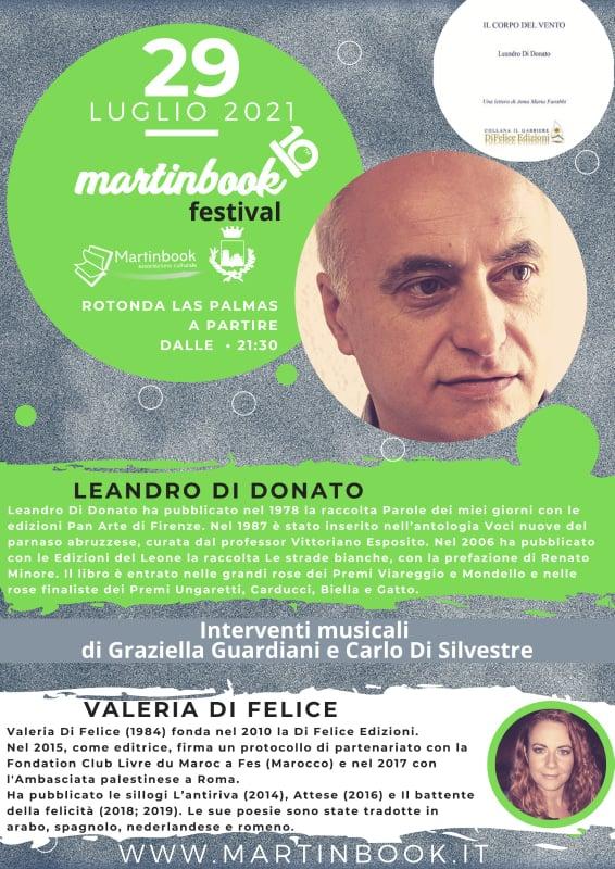 Leandro Di Donato presenta il suo nuovo libro al Martinbook