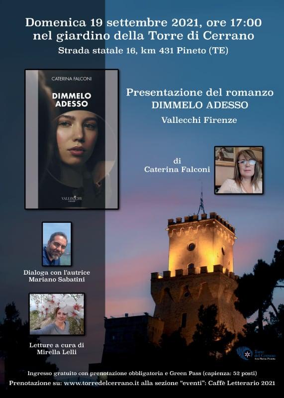 """Pineto. Editoria: presentazione del libro di Caterina Falconi """"Dimmelo Adesso"""", edito dalla Vallecchi Firenze"""