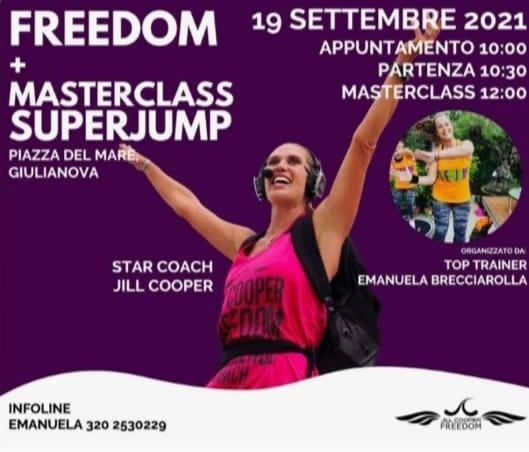 """Camminata a tempo di musica: domenica arriva a Giulianova il """"Jill Cooper Freedom""""."""