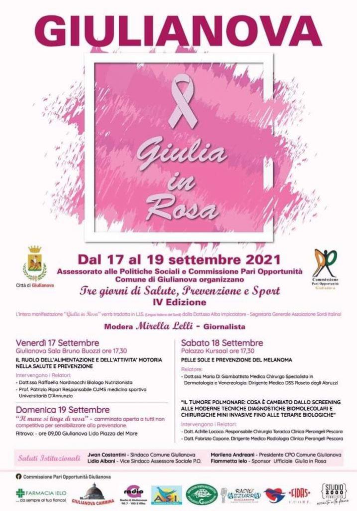 """Giulianova """"in rosa"""" nel prossimo weekend: torna la manifestazione organizzata dall'amministrazione comunale e dalla Commissione Pari Opportunità, dedicata a salute, prevenzione e sport."""