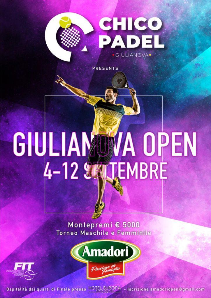 """Giulianova. Presentata ieri sera la fase finale del primo """"Giulianova Open"""" di padel."""