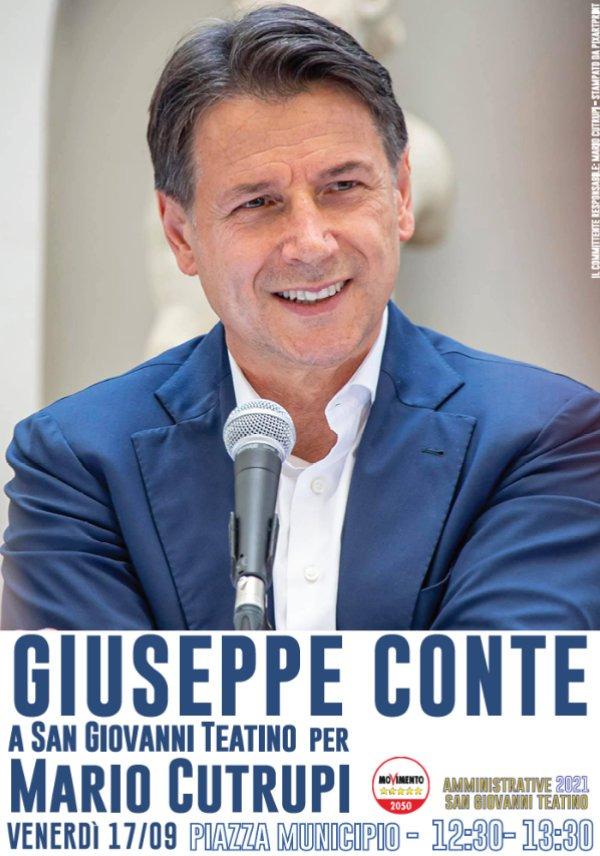 Politica. Giuseppe Conte a San Giovanni Teatino