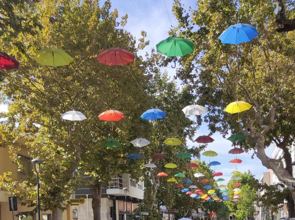 Giulianova. L'amministrazione comunale regala ai cittadini gli ombrelli che, per tutta l'estate, hanno decorato le vie del centro.