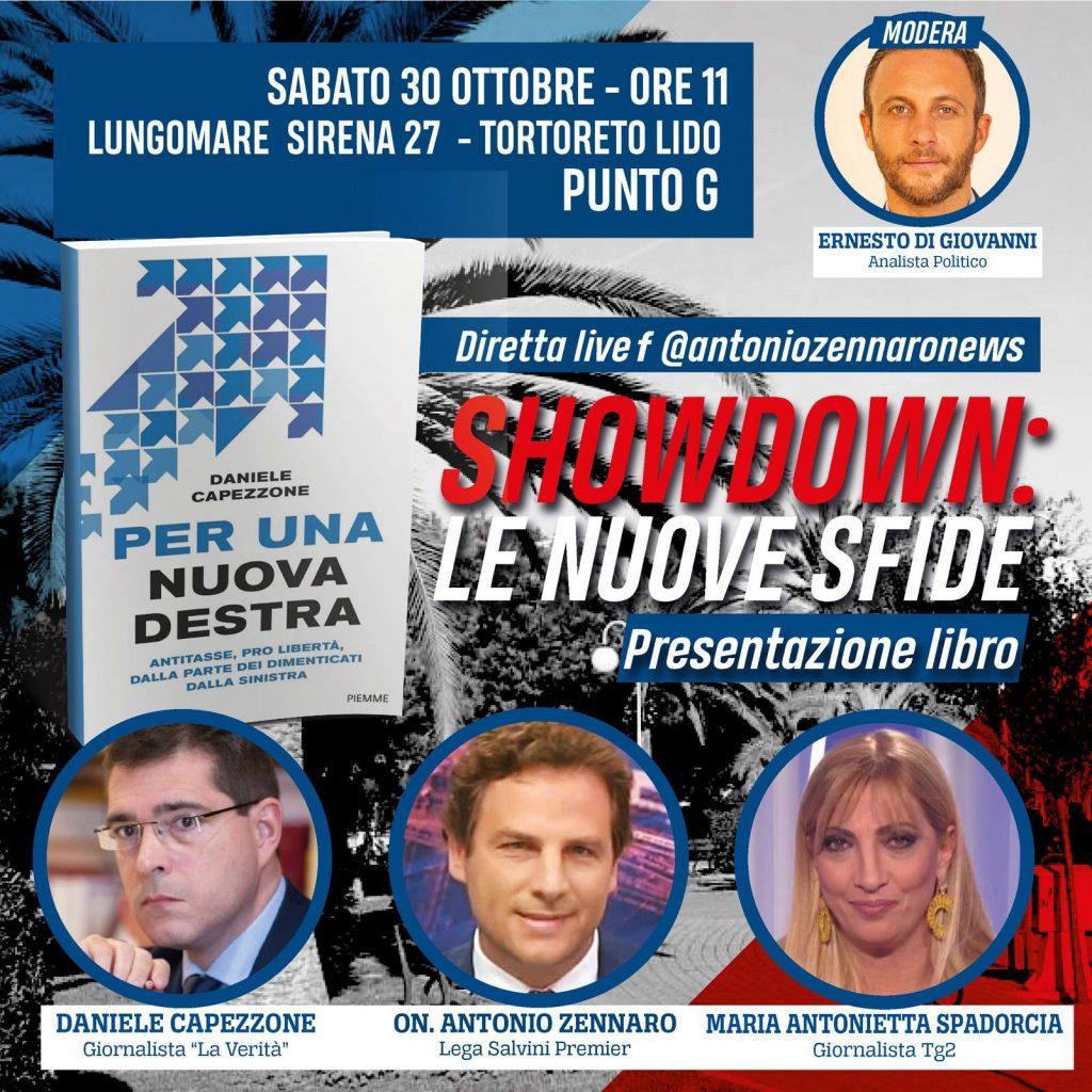 """Editoria. Presentazione libro """"Per una nuova destra"""": Capezzone, Spadorcia e Zennaro il 30 ottobre a Tortoreto"""