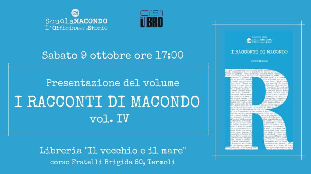 Da Pescara a Termoli, la Casa del Libro ospitaI racconti di Macondovol. IV