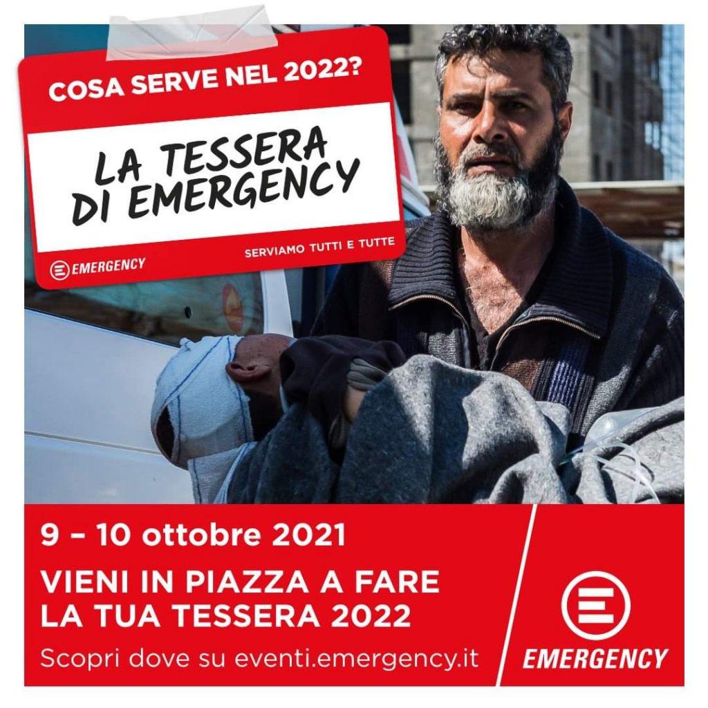 TERAMO. SABATO 9 E DOMENICA 10 OTTOBRE NELLE PIAZZE ITALIANE  FAI LA TUA TESSERA EMERGENCY 2022
